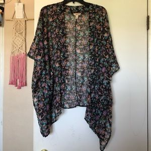 Floral throw/cover up